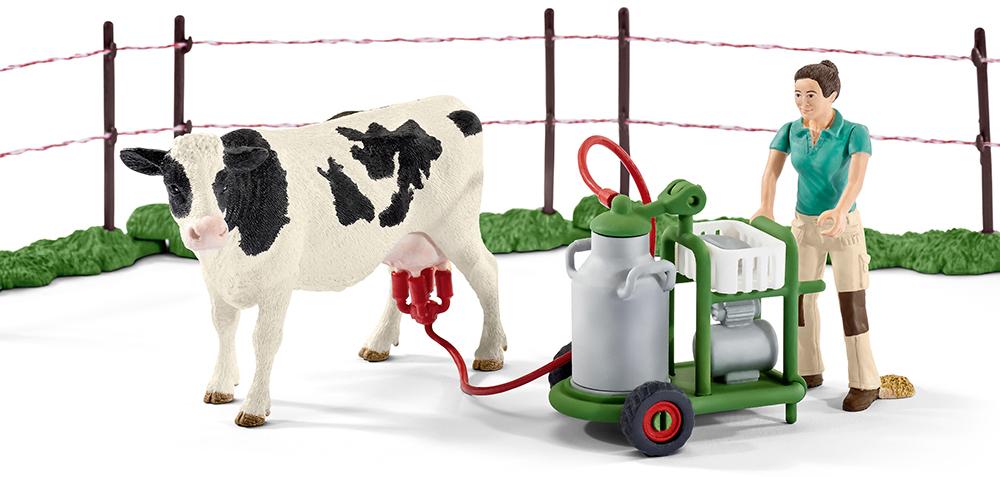 Schleich 41428 Kuhfamilie auf der Weide Farm Life