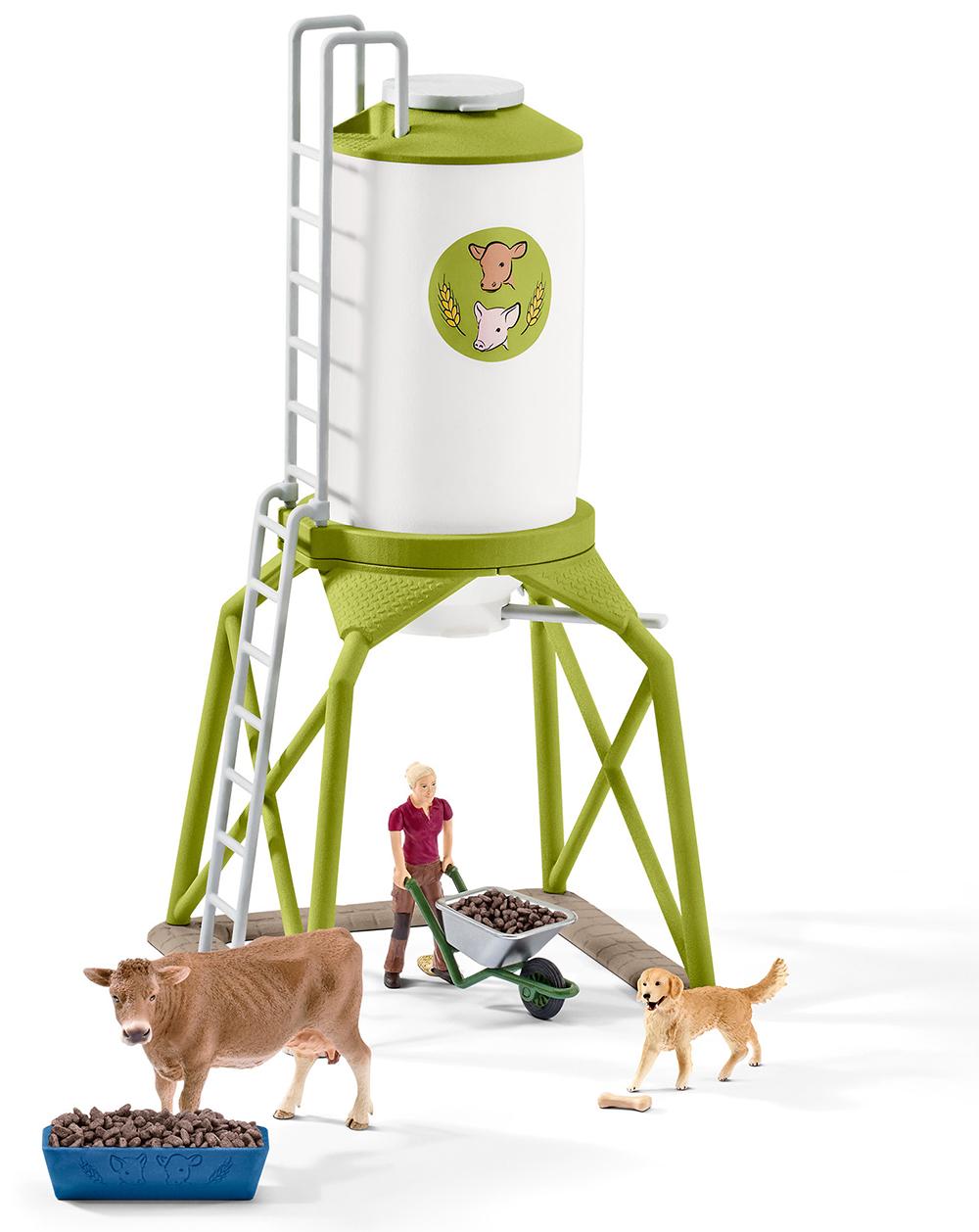 Schleich 41429 Futtersilo mit Tieren Farm Life