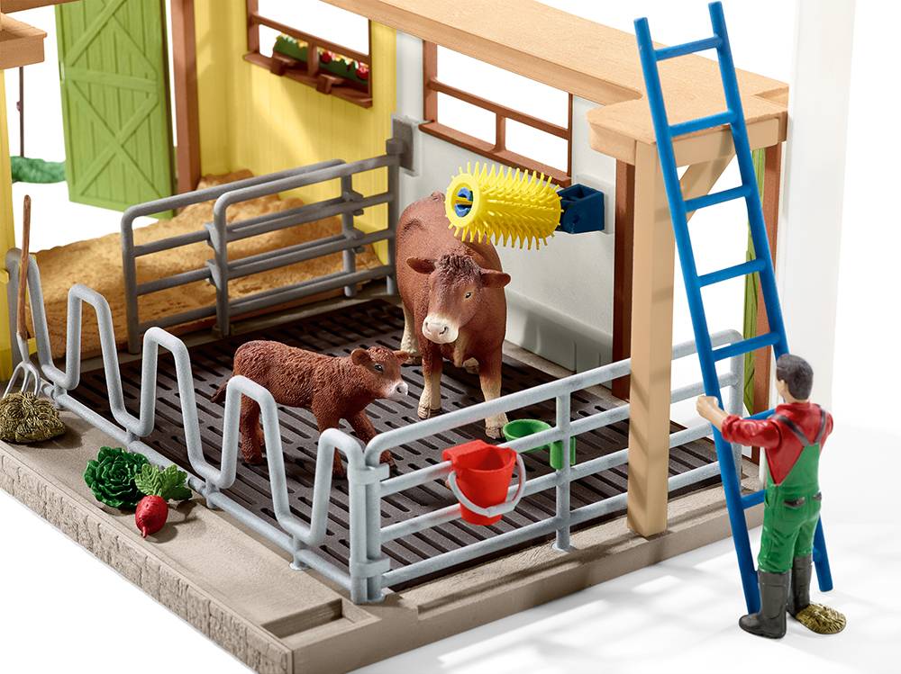 Schleich 42334 Scheune mit Tieren und Zubehör Farm Life