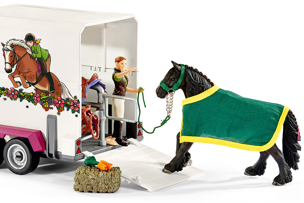 Schleich 42346 Pick-up mit Pferdeanhänger Horse Club