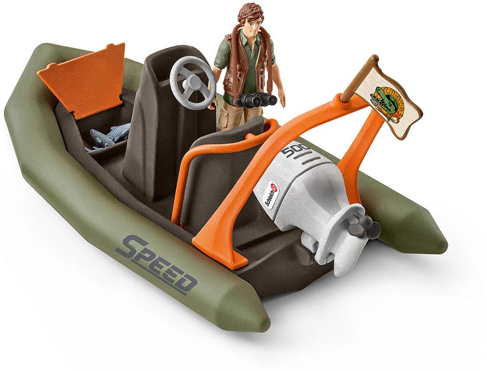 Schleich 42352 Schlauchboot mit Ranger Wild Life