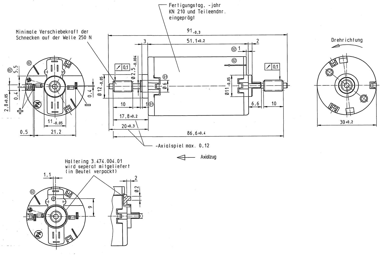 Motor lange Welle Ersatzteile Zubehör LGB 62204-M001 Ersatzteile NEU