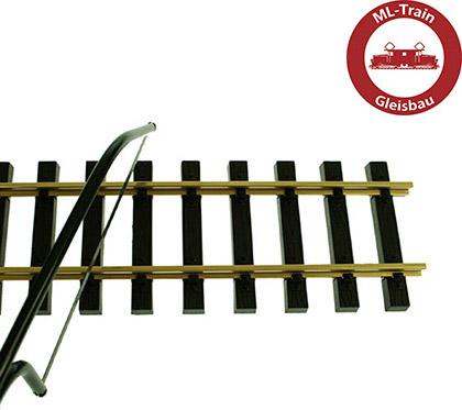 10x Gleis gerade 60 cm mit 20x Schraub-Verbinder Gleis Spur-G ML-Train 891060210