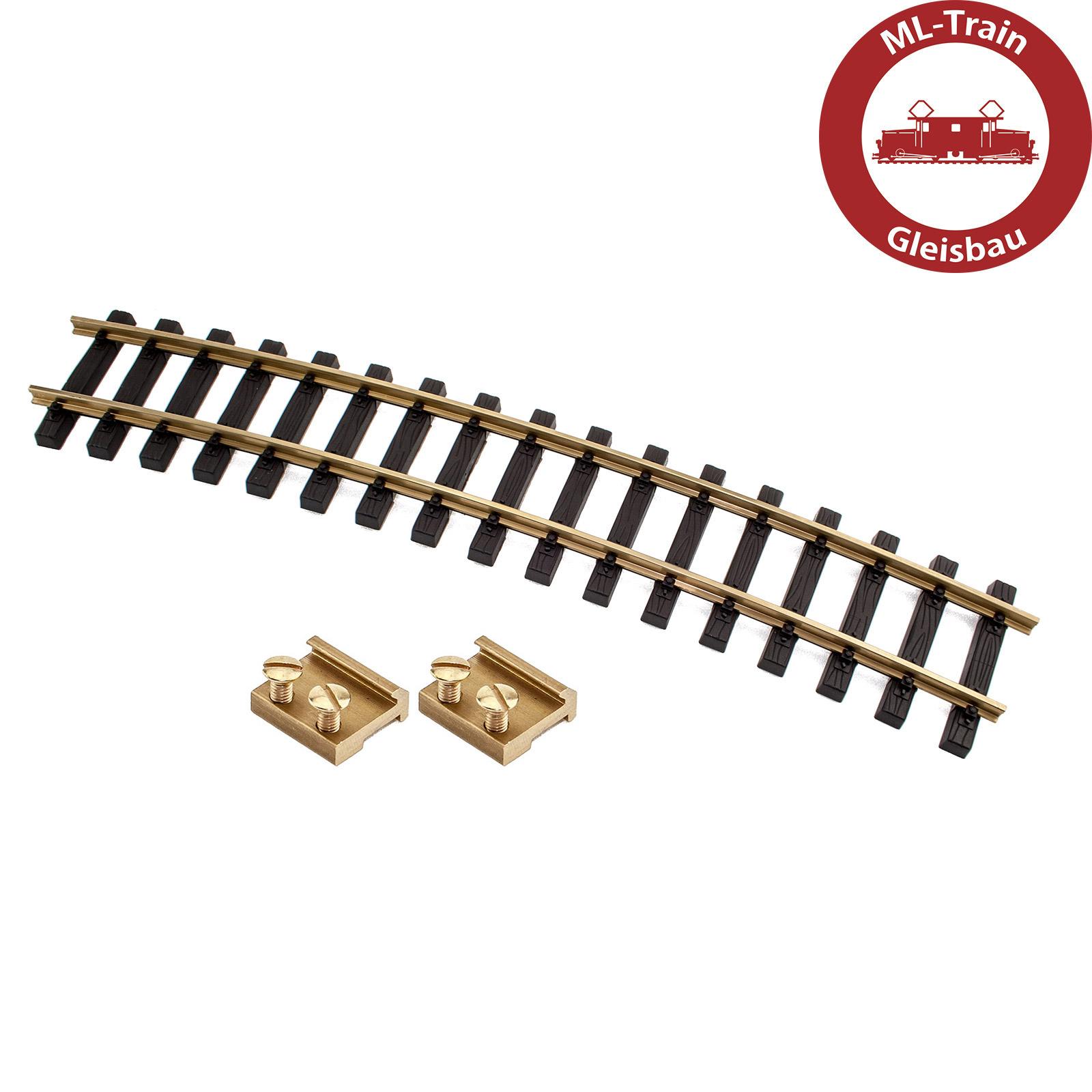 6x Gleis gerade 150 cm mit 12x Schraub-Verbinder für Spur-G ML-Train 8911502 NEU