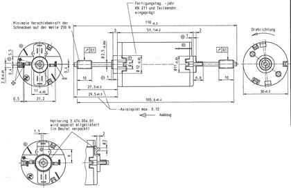 Motor kurze Welle für LGB-Loks ML-Train 82501030 NEU Uni