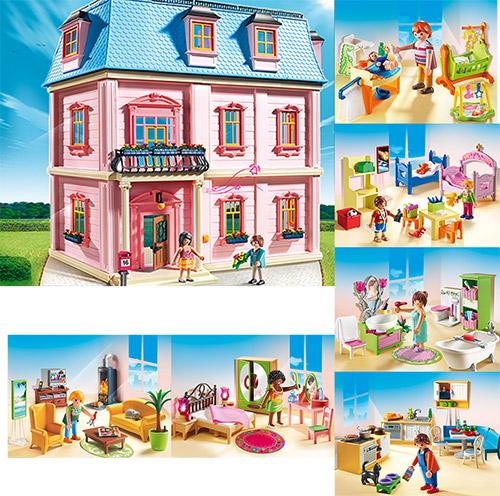 Playmobil Romantisches Puppenhaus Zimmer Wohnzimmer Küche ...