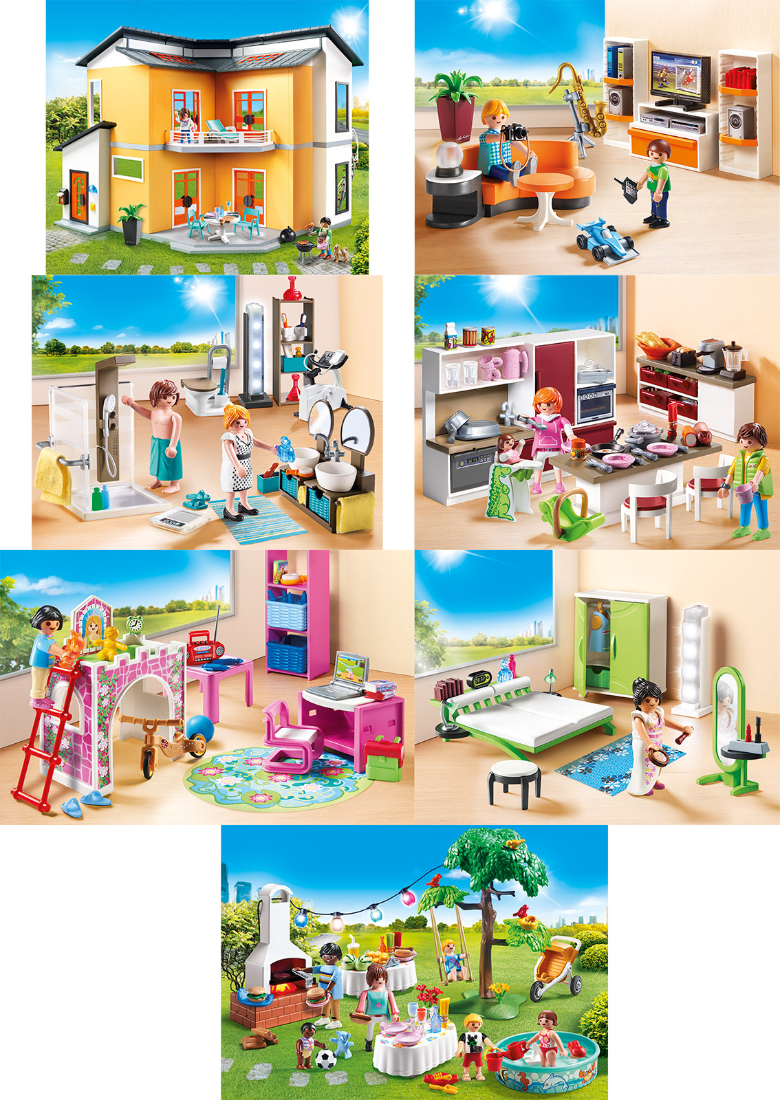 Playmobil 2017 Wohnhaus Wohnzimmer Bad Küche Kinderzimmer ...
