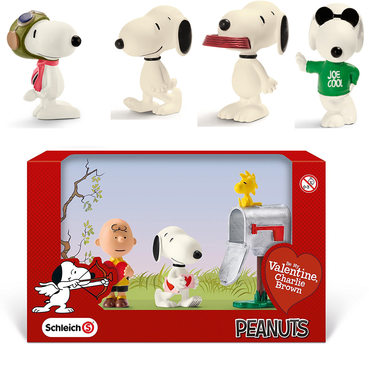 Schleich Peanuts Raritaten Snoopy Flying Ace Valentinstag Scenery